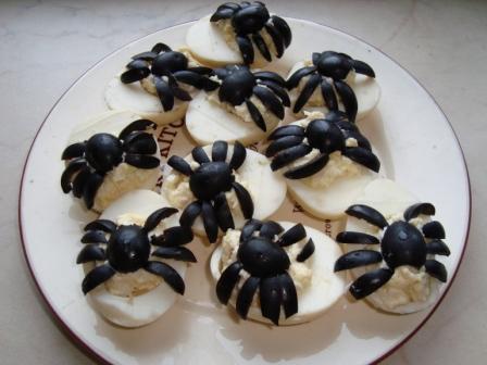 Салат яйца чеснок
