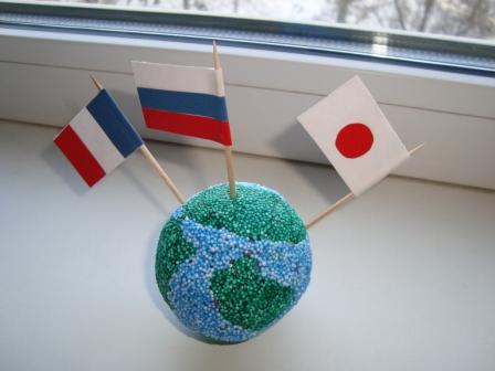 Глобус из пластилина фото